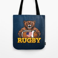 rugby Tote Bags featuring RUGBY by solomnikov
