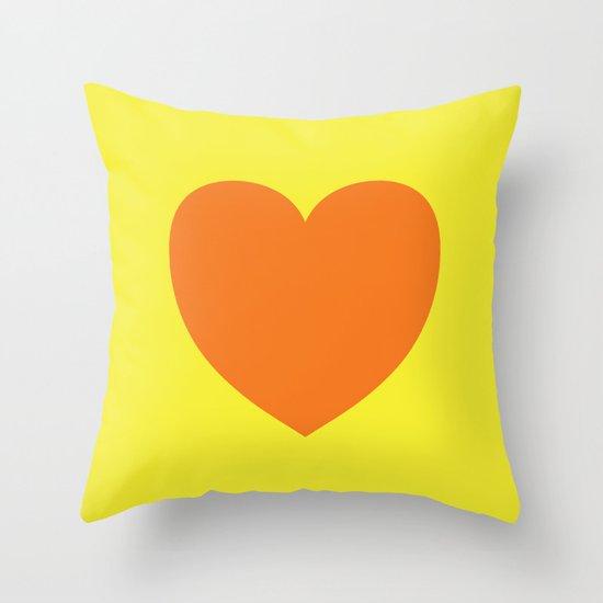Pop Art Heart Throw Pillow