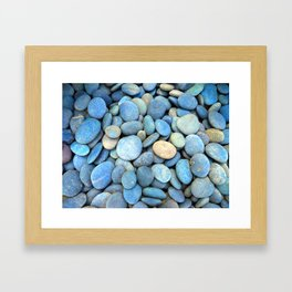Blue Rocks Framed Art Print