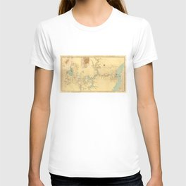 Map of the Proposed Panama Canal (1906) T-shirt