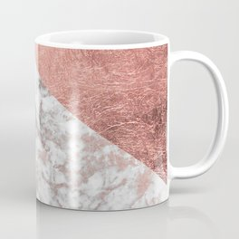Stylish elegant white faux rose gold modern marble Coffee Mug