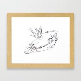 Swiss Army Unicorn Framed Art Print