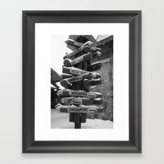 Which Way? Framed Art Print