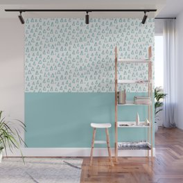 Triangles Mint Wall Mural