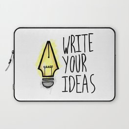 Write Your Ideas Laptop Sleeve