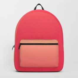 Coral Pink Ombre Backpack