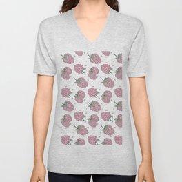 Pink raspberry Unisex V-Neck