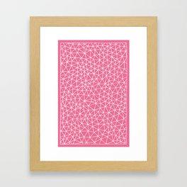 Connectivity - White on Pink Framed Art Print