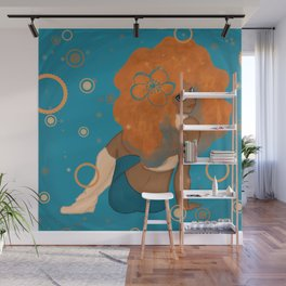 Ginger (Blue Background) Wall Mural