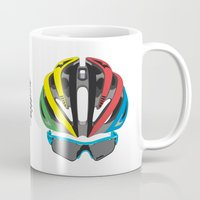 cycling Mugs featuring Cycling Face by Pedlin