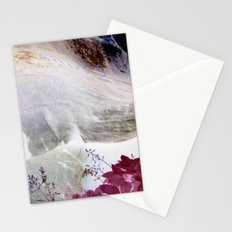 Red Erode Stationery Cards