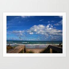 Cocoa Beach in Florida Art Print
