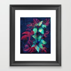 Tropical Flower - Blue Lilly Framed Art Print