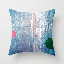 Metallic Face (Blue Version) Throw Pillow