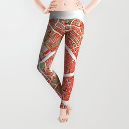Venice city map classic Leggings
