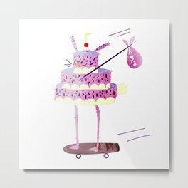 Hobo Bunny Cake Metal Print