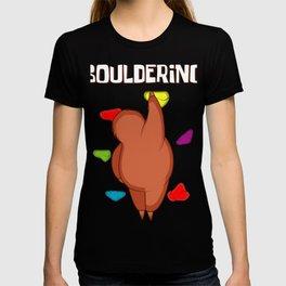 Bouldering Sloth Boulderer And Sloth Lover Gift T-shirt