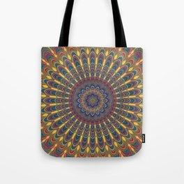 Bohemian oval mandala Tote Bag