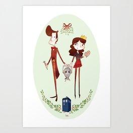 Wouffle Christmas Art Print