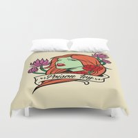 poison ivy Duvet Covers featuring Poison Ivy by Buby87