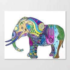 Elephant Profile Canvas Print