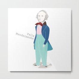 Felix Mendelssohn Metal Print