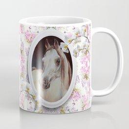 White orchids & Arabian mare Coffee Mug
