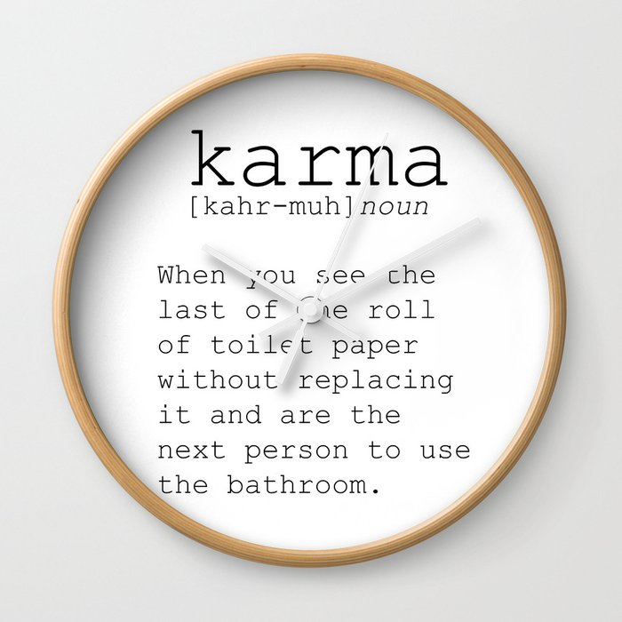 Funny Definition Of Karma Funny Quote Funny Wall Art Printable Wall