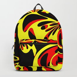 Yellow red and black Backpack