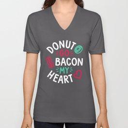 Donut Go Bacon My Heart Unisex V-Neck