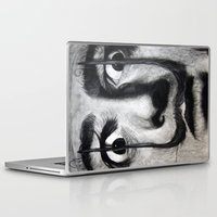 argentina Laptop & iPad Skins featuring I am drugs ( Salvador Dali ) by Black Neon