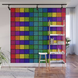Sponged Chex Wall Mural