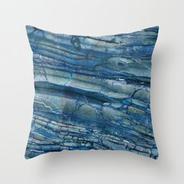 Giusto Azzurro blue marble Throw Pillow