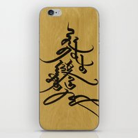 calligraphy iPhone & iPod Skins featuring Mongolian calligraphy by Endangered Alphabets