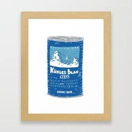 Kuhles Blau Light Framed Art Print