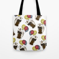 appa Tote Bags featuring Appa tied to Balloons by nsvtwork