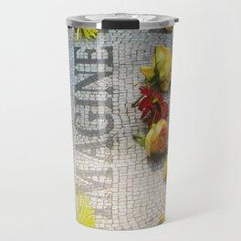 Imagine at Strawberry Fields Travel Mug