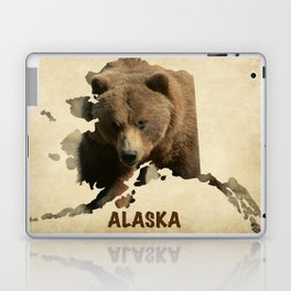 Alaskan Grizzly Map Laptop & iPad Skin