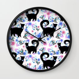 Retro Snobby Cats 1 Wall Clock