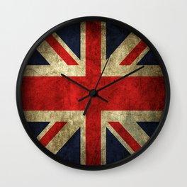 GRUNGY BRITISH UNION JACK  DESIGN ART Wall Clock
