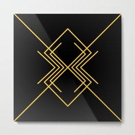 golden spider Metal Print