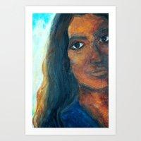 Maldive Woman Art Print