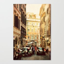 Trattoria Roma  Canvas Print