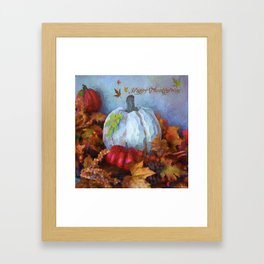 Happy Thanksgiving - Seasonal Art Framed Art Print