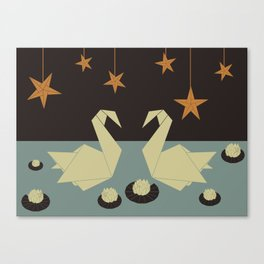 Origami swan Canvas Print