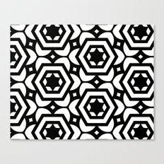 Vogelaar Black & White Pattern Canvas Print