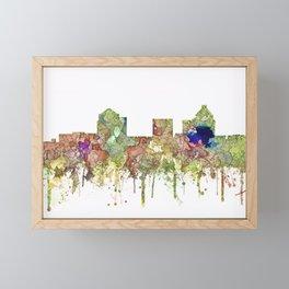 Greensboro, North Carolina Skyline - Faded Glory Framed Mini Art Print