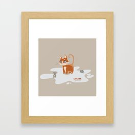 Ginger Cat and Mice Catch me If You Can Framed Art Print