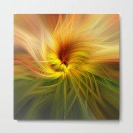 Sunflowers Twirled Metal Print