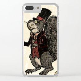 Mr Squirrelsworth Clear iPhone Case